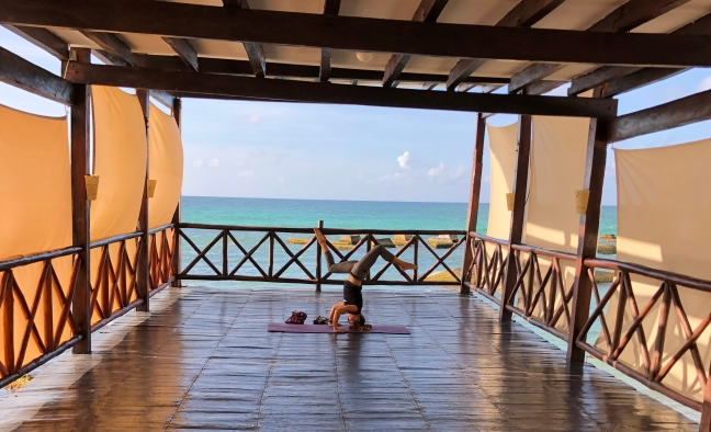 Yoga class at El Dorado Royale